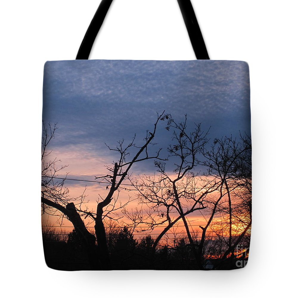 Fire Tote Bag featuring the photograph Purple Twilight by Tara Shalton