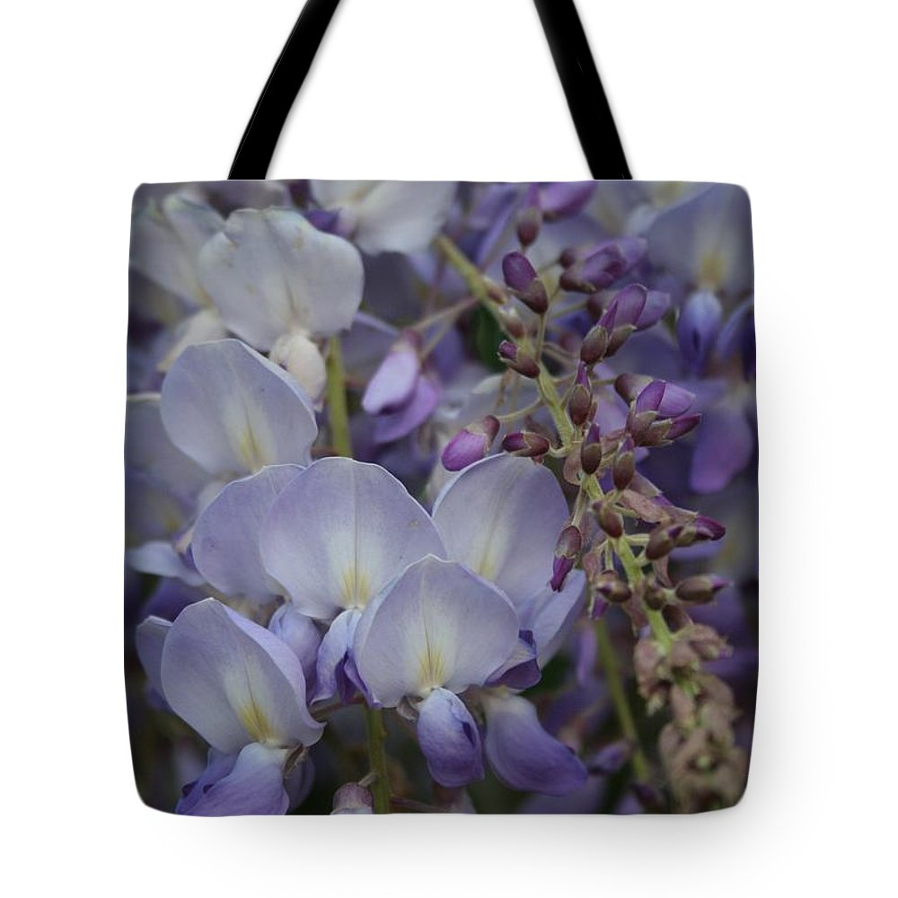 Blossom Tote Bag featuring the photograph Purple Vine by Taiche Acrylic Art