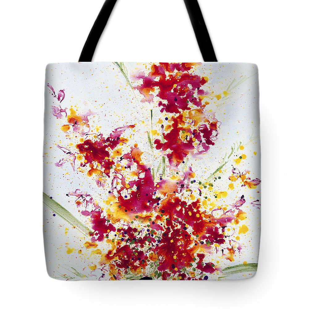 Colorchrome Scans Tote Bag featuring the painting Purposeful Season by Jerome Lawrence