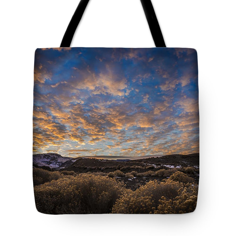 The Sky Put On Quite A Show For Me On A December Day At Pyramid Lake Tote Bag featuring the photograph Pyramid Lake Sunset by Dianne Phelps