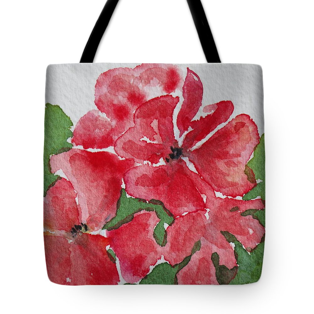 Floral Tote Bag featuring the painting Pzzzazz by Mary Ellen Mueller Legault