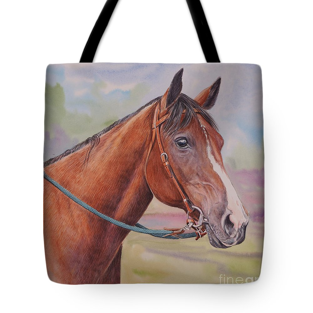 Horse Tote Bag featuring the painting Quarter Horse by Gail Dolphin