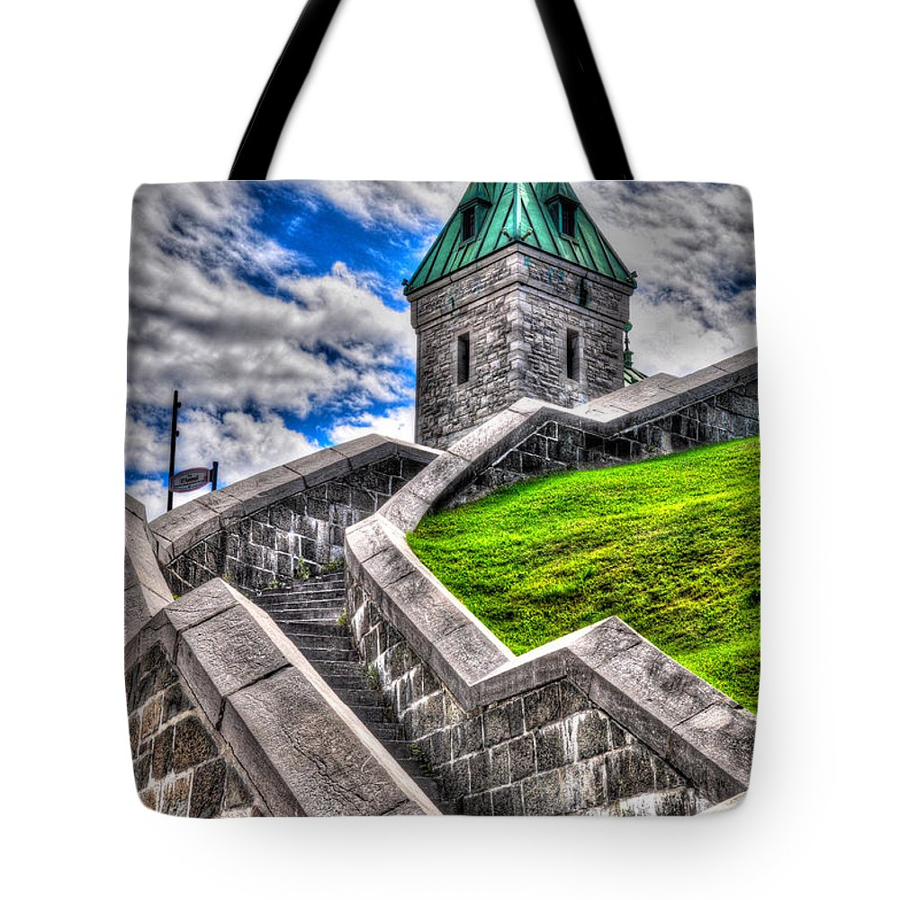 Quebec Tote Bag featuring the photograph Quebec City Fortress Gates by Bianca Nadeau