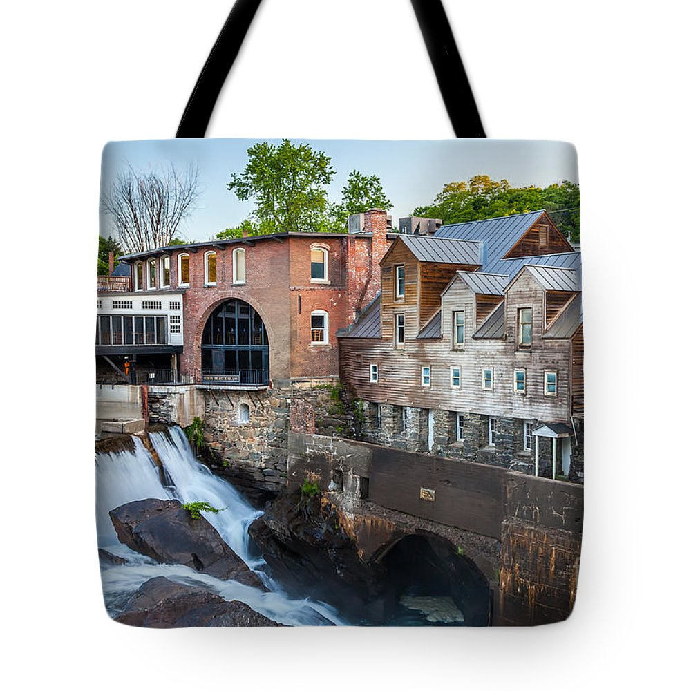 America Tote Bag featuring the photograph Quechee Village Mill by Susan Cole Kelly