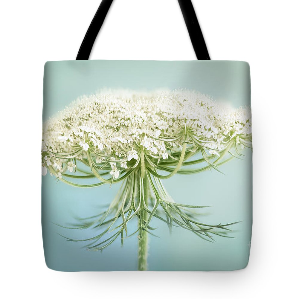 Queen Annes Lace Tote Bag featuring the photograph Queen Anne's Lace Wildflower by Onelia PGPhotography