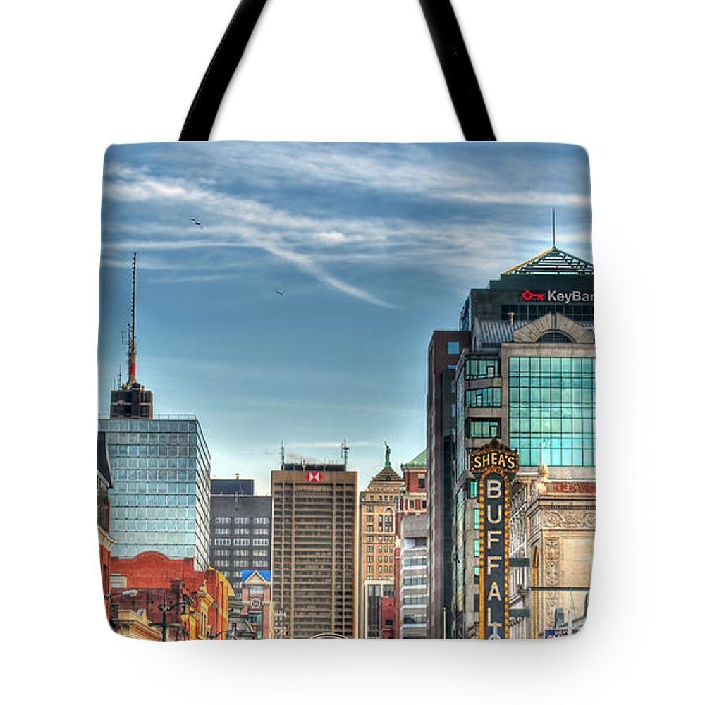 Queen City Tote Bag featuring the photograph Queen City Downtown by Michael Frank Jr