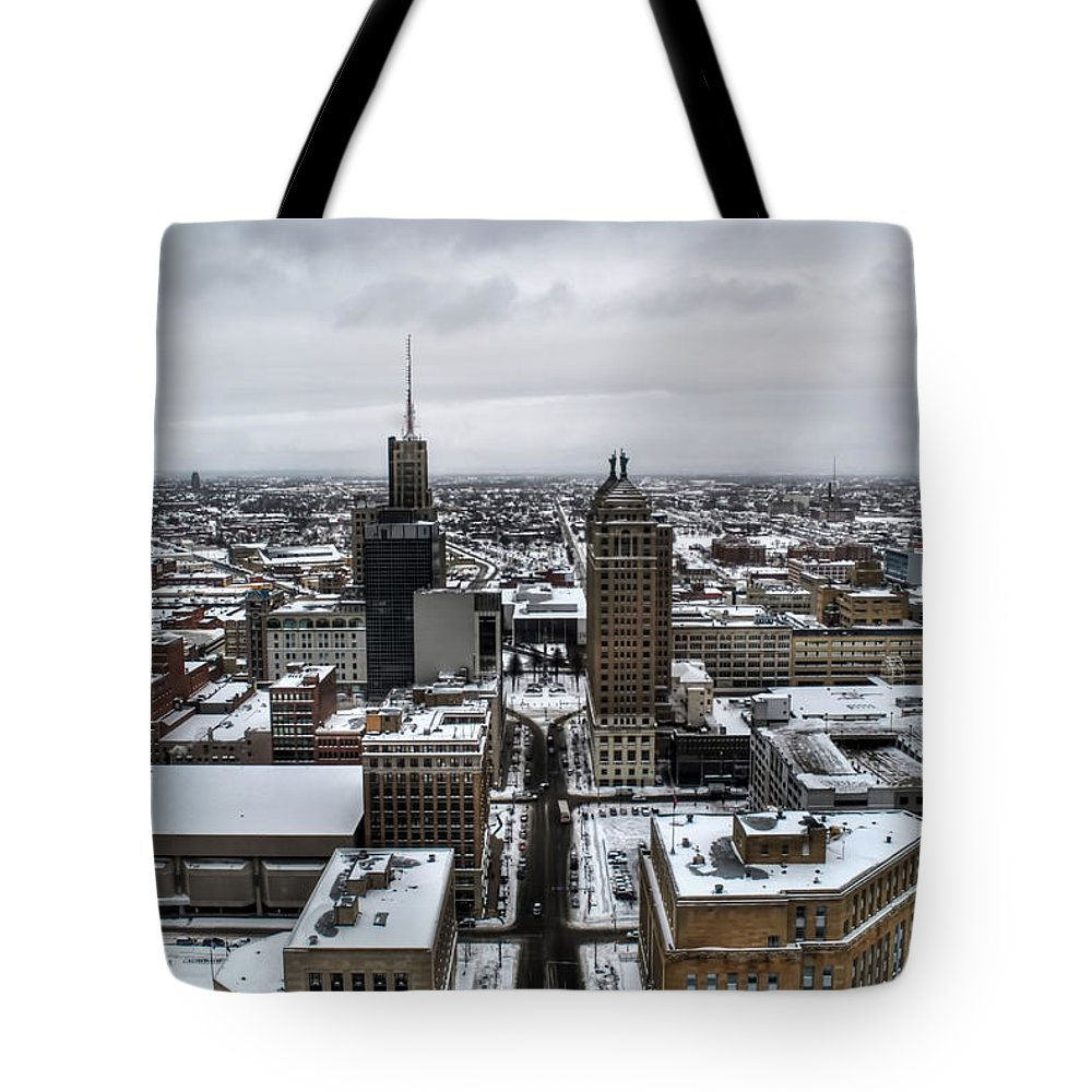 Buffalo Tote Bag featuring the photograph Queen City Winter Wonderland After The Storm Series 001 by Michael Frank Jr