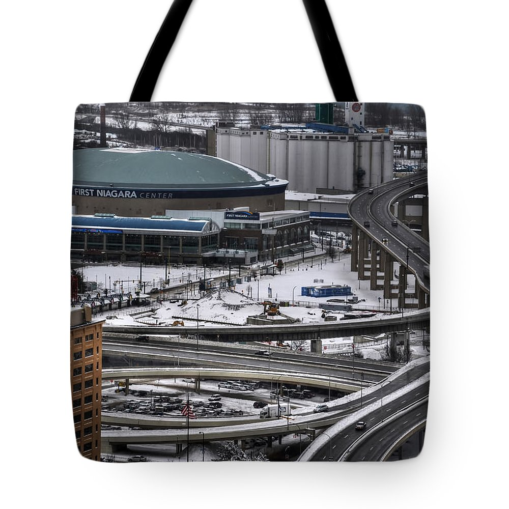 Buffalo Tote Bag featuring the photograph Queen City Winter Wonderland After The Storm Series 0014 by Michael Frank Jr