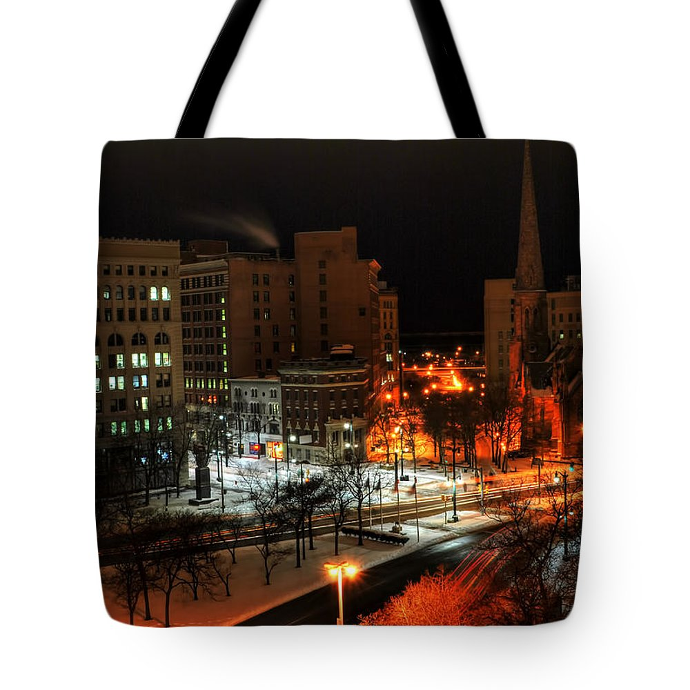 Buffalo Tote Bag featuring the photograph Queen City Winter Wonderland After The Storm Series 0015 by Michael Frank Jr