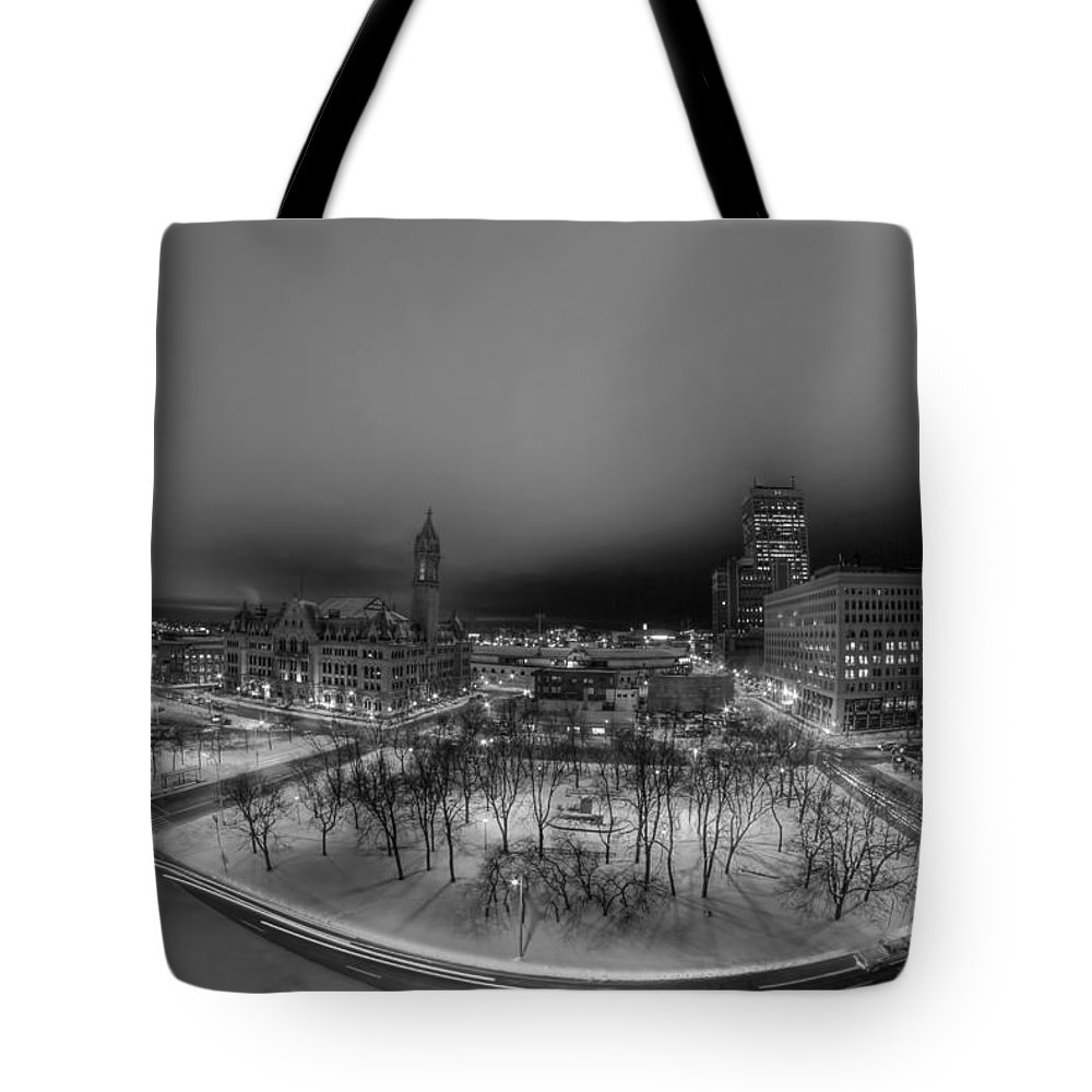 Buffalo Tote Bag featuring the photograph Queen City Winter Wonderland After The Storm Series 0018a by Michael Frank Jr