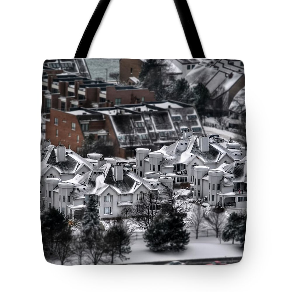 Tote Bag featuring the photograph Queen City Winter Wonderland After The Storm Series 0028b by Michael Frank Jr