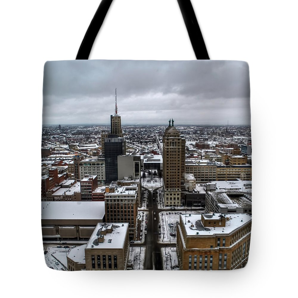 Buffalo Tote Bag featuring the photograph Queen City Winter Wonderland After The Storm Series 007 by Michael Frank Jr