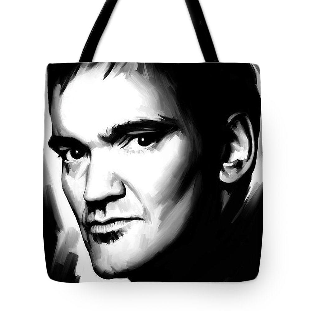 Quentin Tarantino Paintings Tote Bag featuring the painting Quentin Tarantino Artwork 2 by Sheraz A