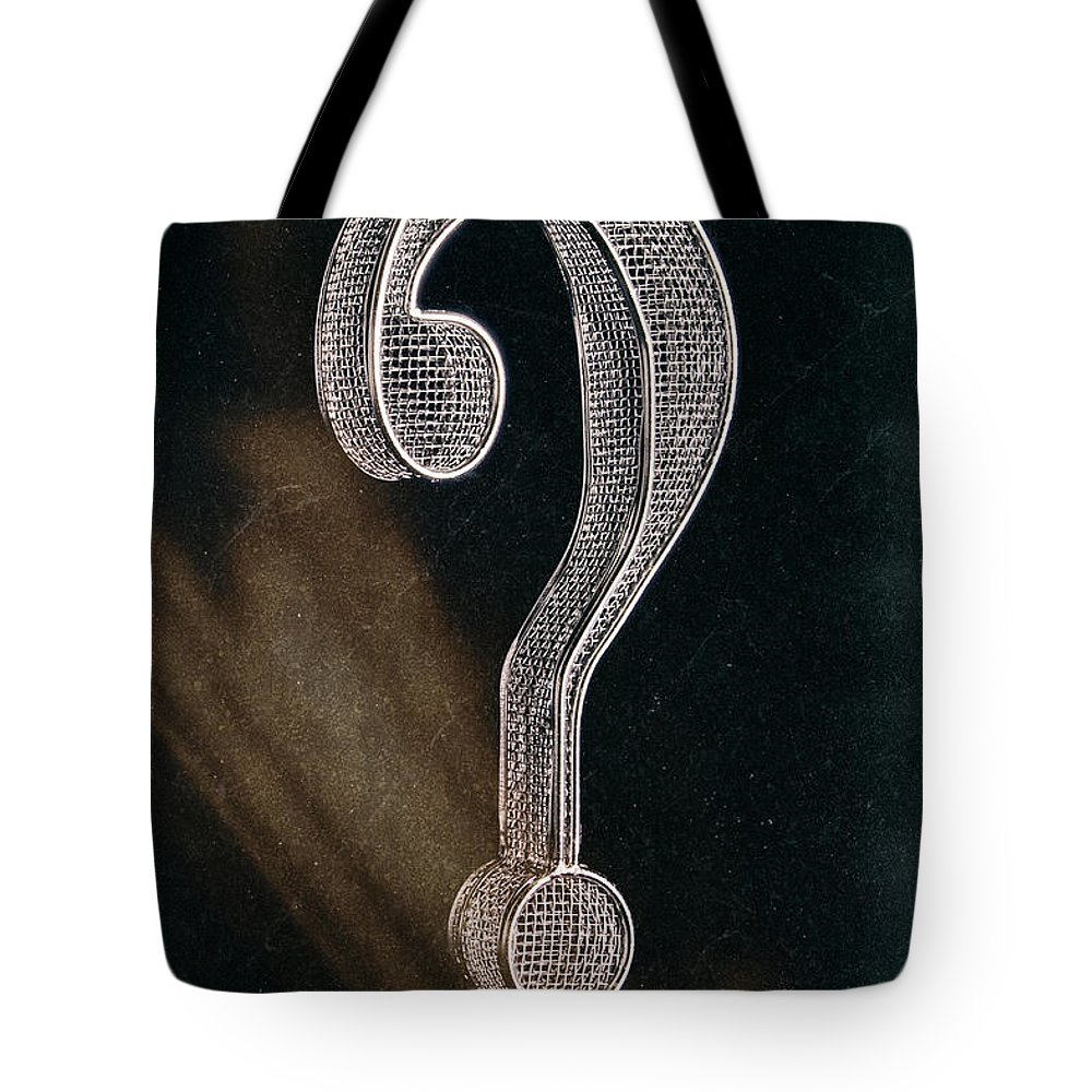 Alphabet Tote Bag featuring the photograph Question Mark by Tom Mc Nemar