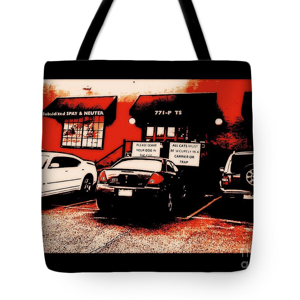 Tote Bag featuring the photograph Quick Fix Pet Clinic by Kelly Awad