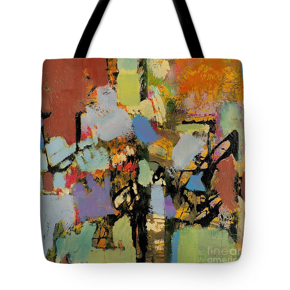 Landscape Tote Bag featuring the painting Quick Racing by Allan P Friedlander