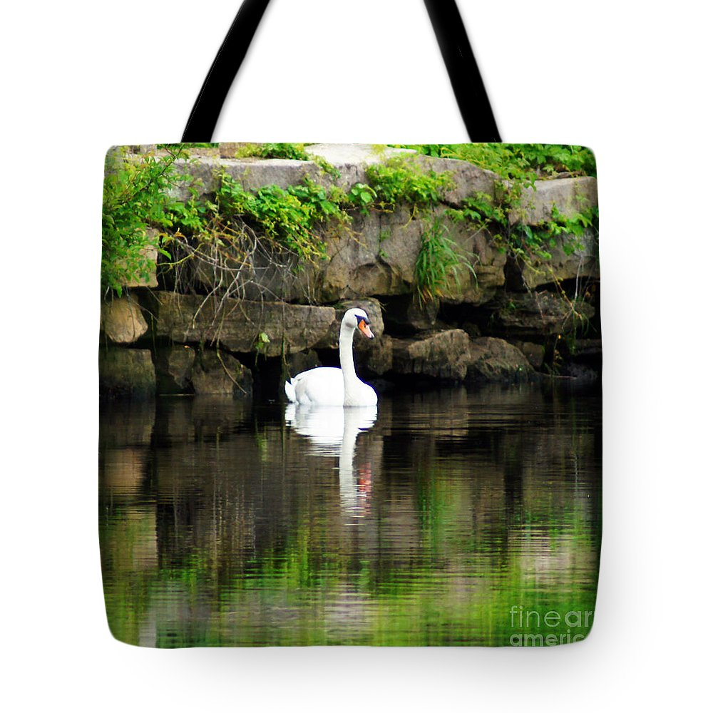 Swan Tote Bag featuring the photograph Quiet Times by Joe Geraci