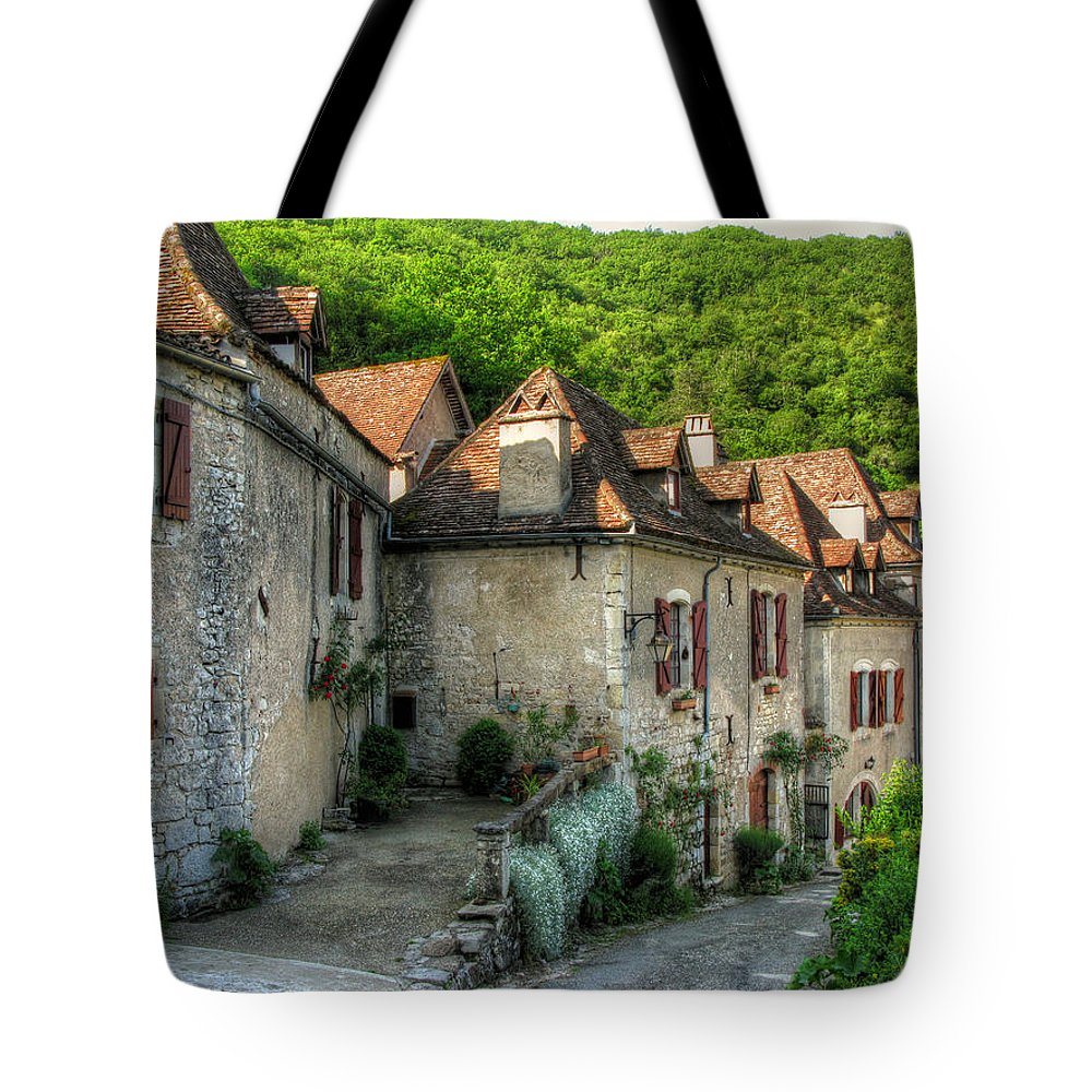 Stone Tote Bag featuring the photograph Quiet Village Life by Douglas J Fisher