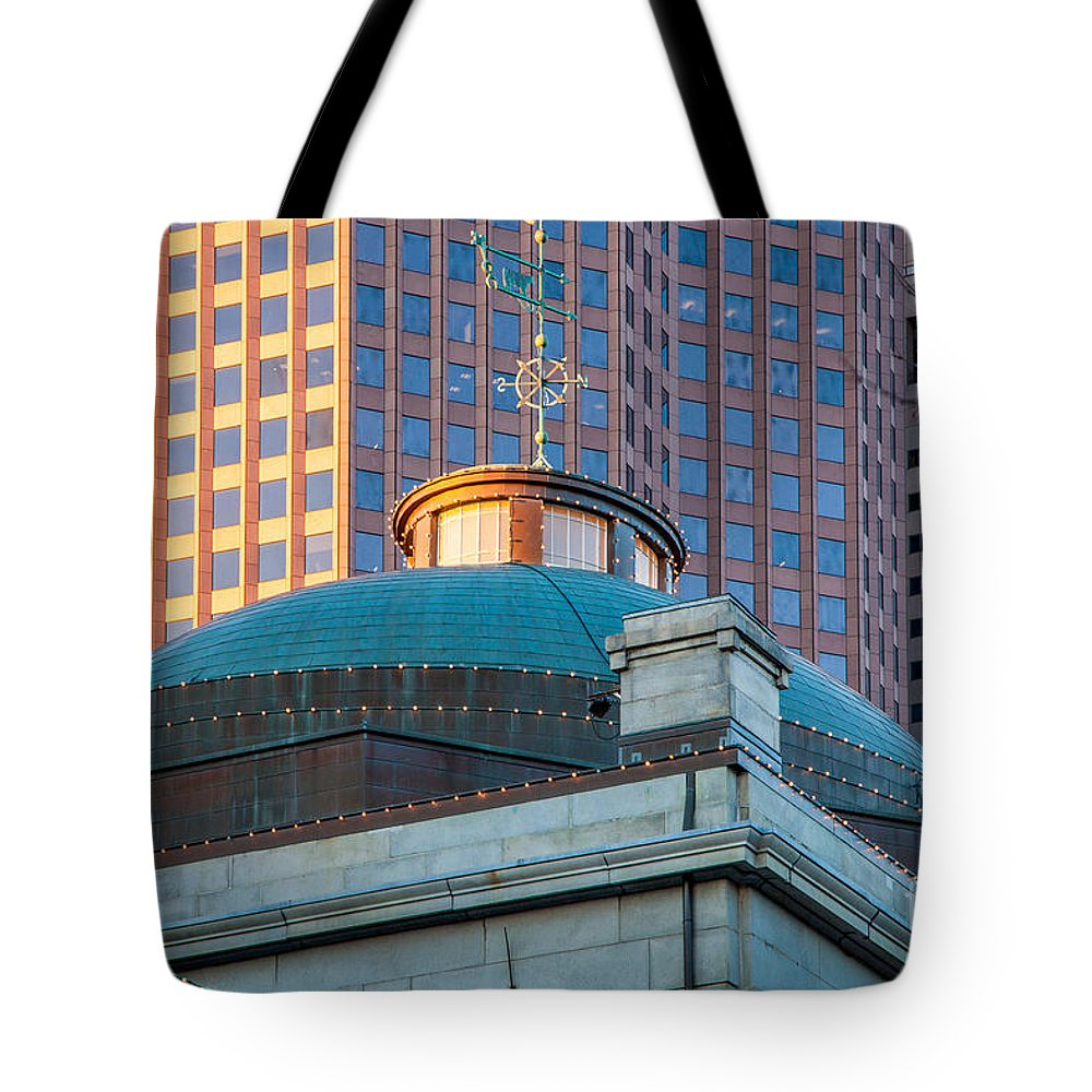 Architecture Tote Bag featuring the photograph Quincy Market Dome by Susan Cole Kelly