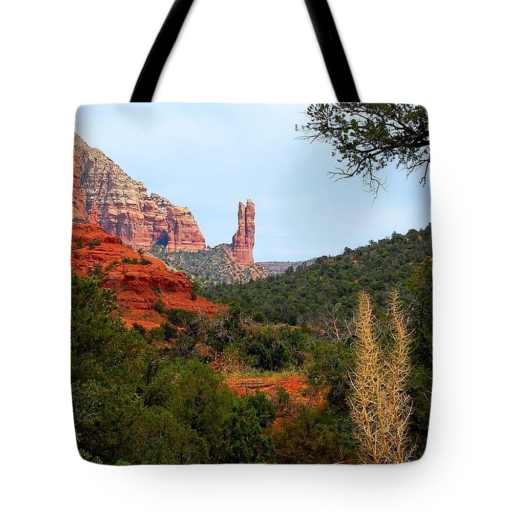 Arizona Tote Bag featuring the photograph Rabbit Ears by Miles Stites