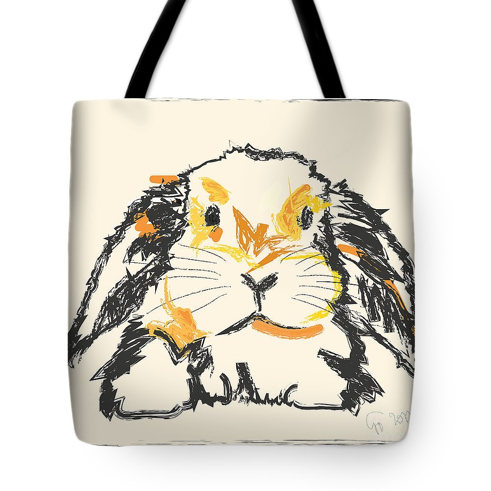 Pet Tote Bag featuring the painting Rabbit Jon by Go Van Kampen