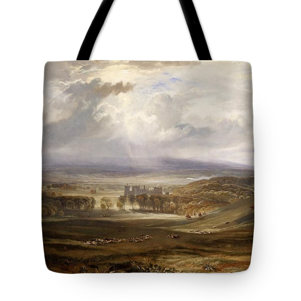 1818 Tote Bag featuring the painting Raby Castle by JMW Turner