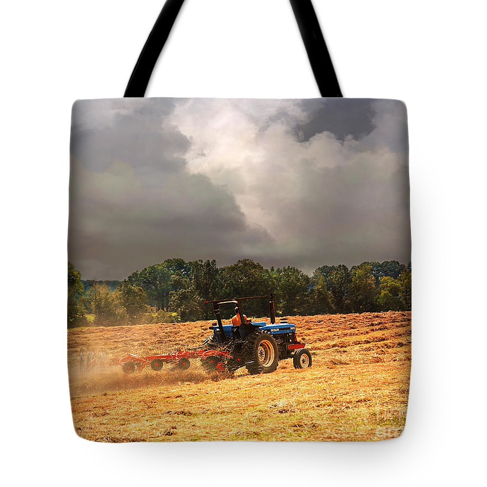 Tennessee Tote Bag featuring the photograph Race Against The Storm by Jai Johnson