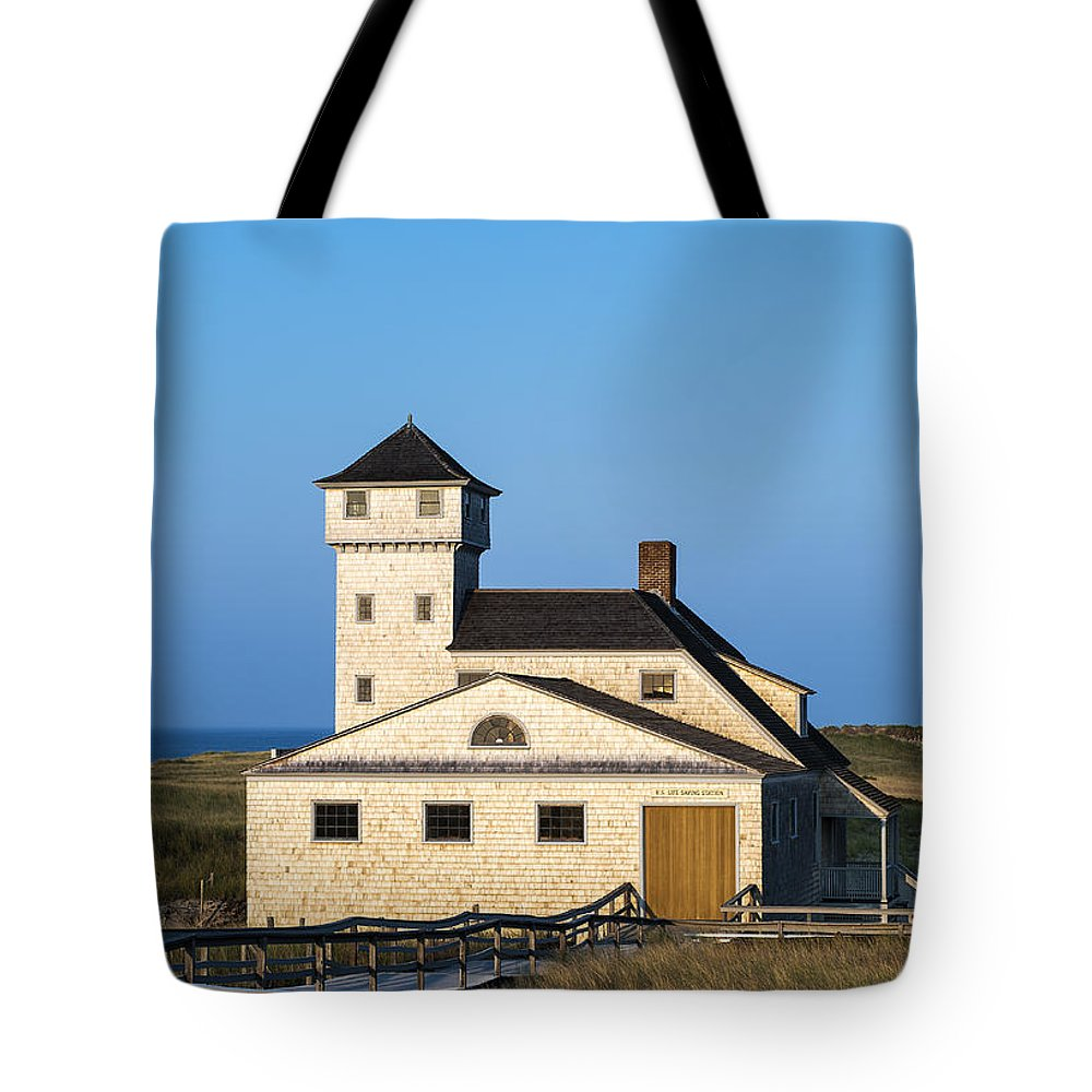 Cape Cod Tote Bag featuring the photograph Race Point Lifesaving Museum by John Greim