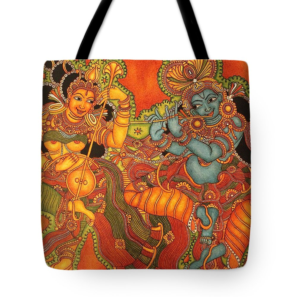 Radha Madhav Symbol Of Eternal Love Tote Bag For Sale By Anu Edasseri