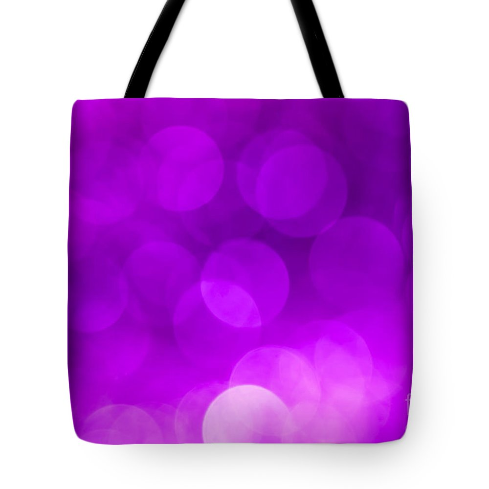 Abstract Tote Bag featuring the photograph Radiant Orchid Bokeh by Jan Bickerton