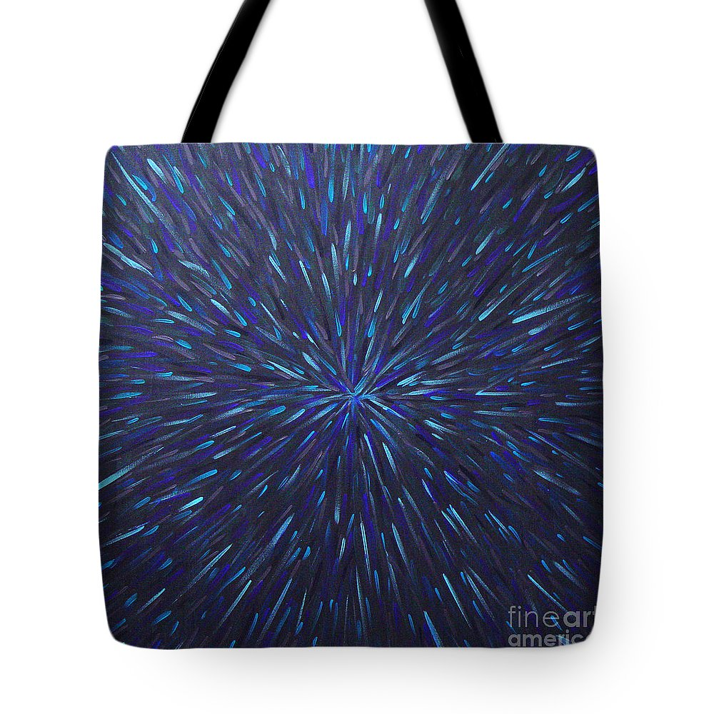 Abstract Tote Bag featuring the painting Radiation Grey by Dean Triolo