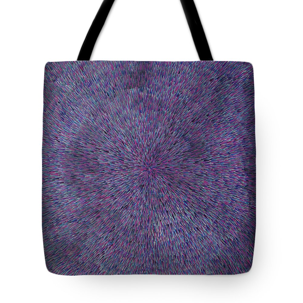 Abstract Tote Bag featuring the painting Radiation Violet by Dean Triolo