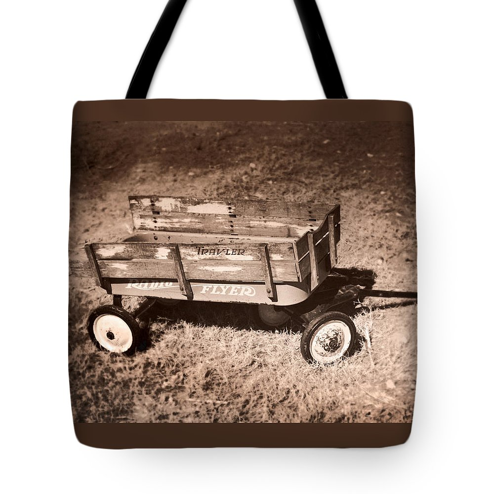 Wagon Tote Bag featuring the photograph Radio Flyer Trav-ler Wagon by John Cardamone