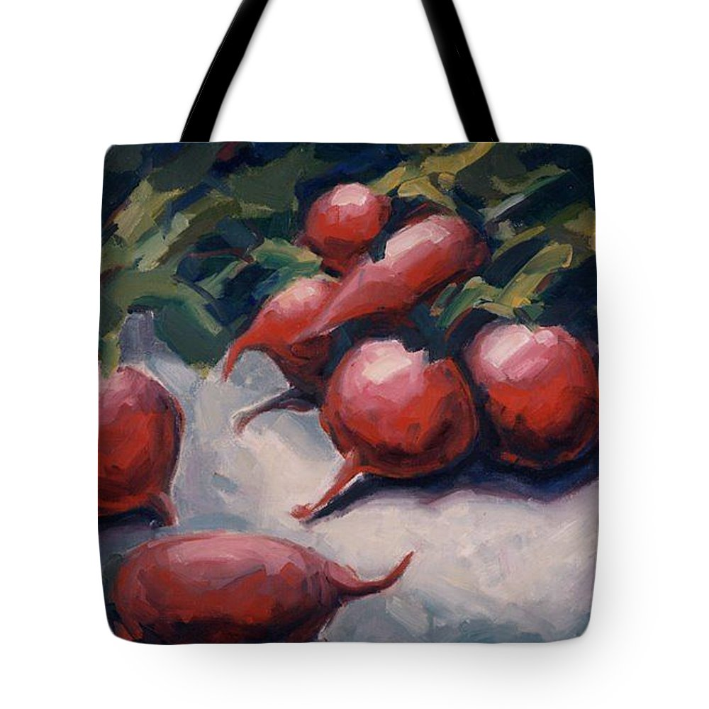 Radishes Tote Bag featuring the painting Radishes by Konnie Kim