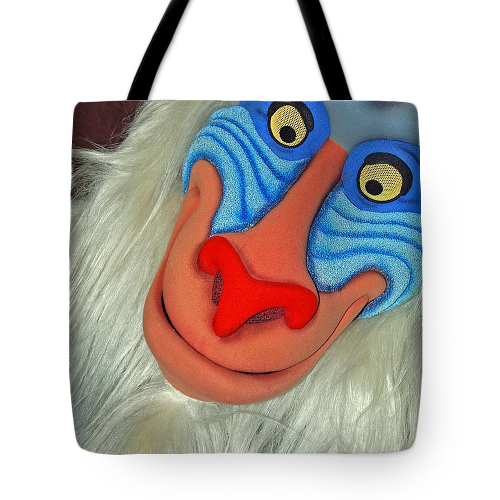 Disney Tote Bag featuring the photograph Rafiki by Eric Liller