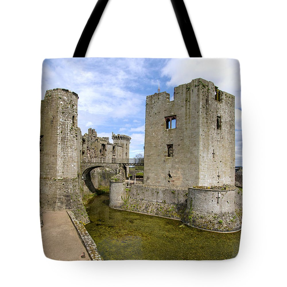 Raglan Tote Bag featuring the photograph Raglan Castle - 5 by Paul Cannon