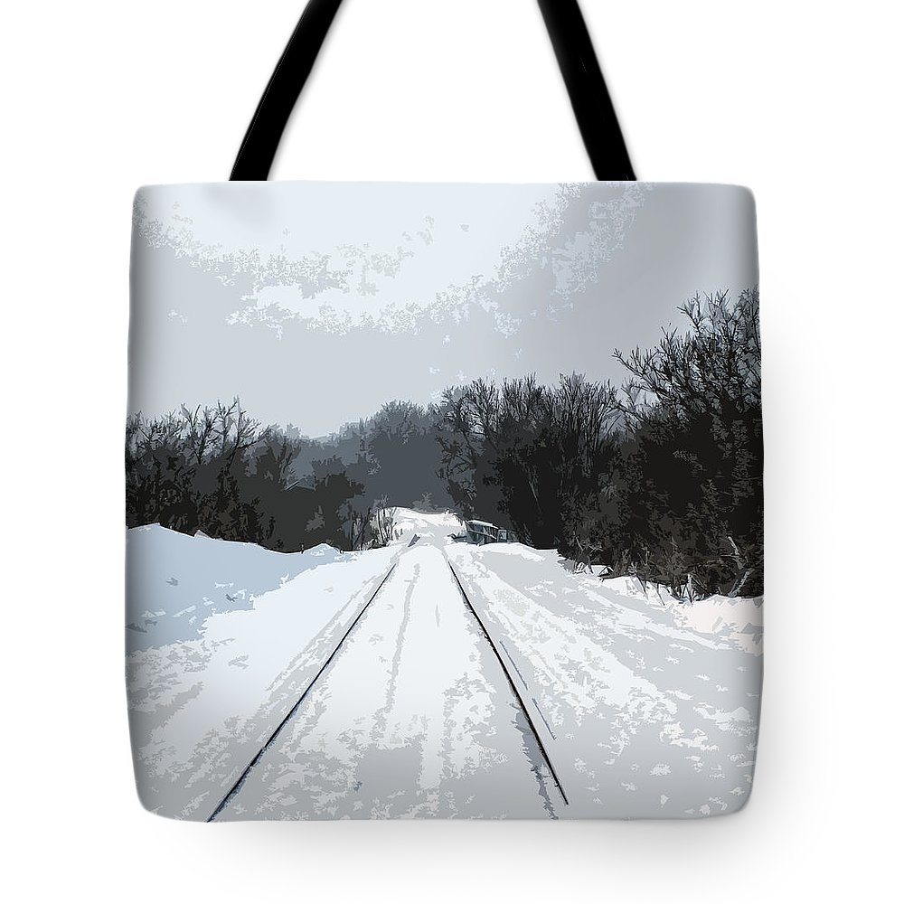 Railroad Tote Bag featuring the photograph Railroad Tracks by William Tasker
