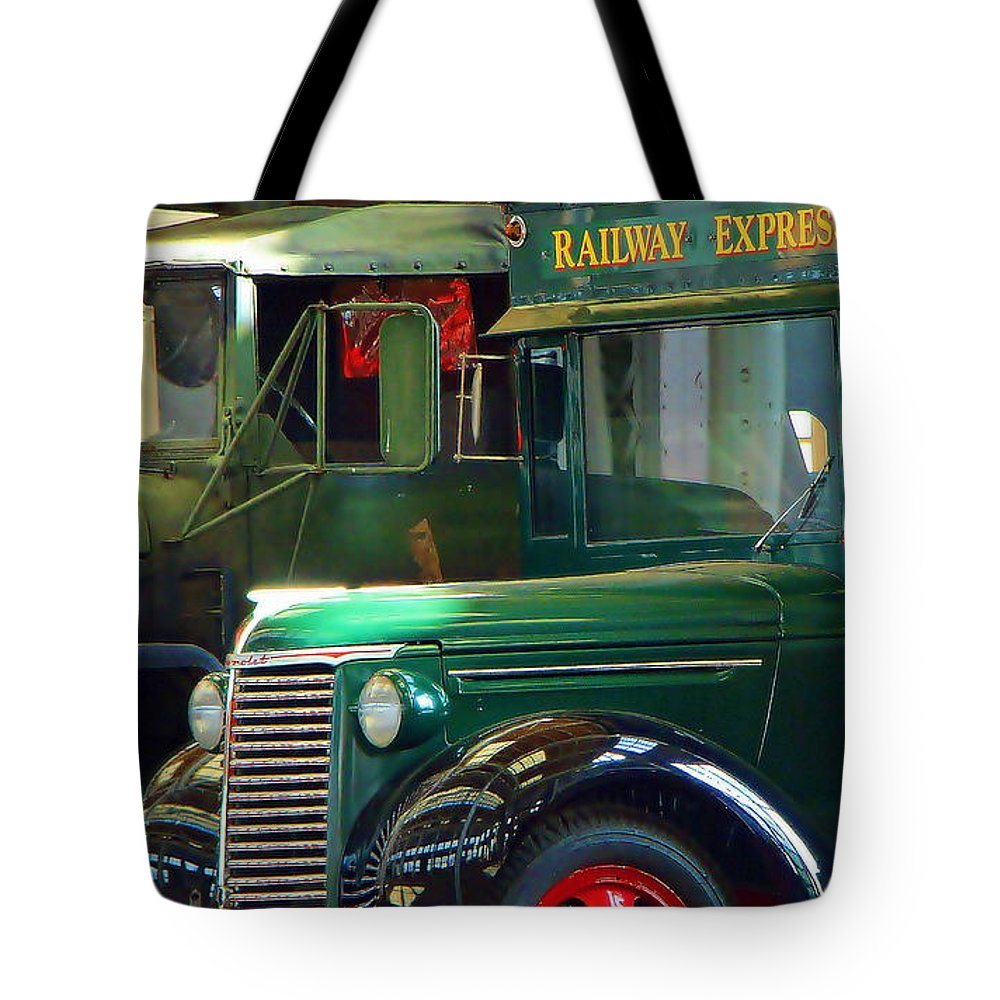 Fine Art Tote Bag featuring the photograph Railway Express by Rodney Lee Williams
