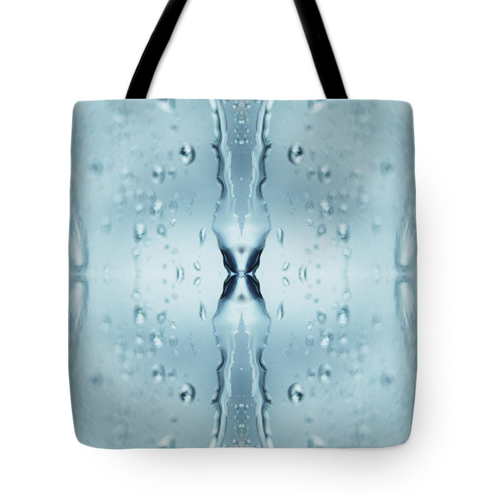 Transparent Tote Bag featuring the photograph Rain Against Window by Silvia Otte