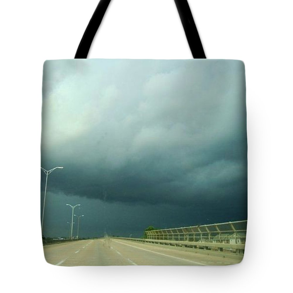 Rain Clouds Tote Bag featuring the photograph Rain Clouds by Deborah Lacoste