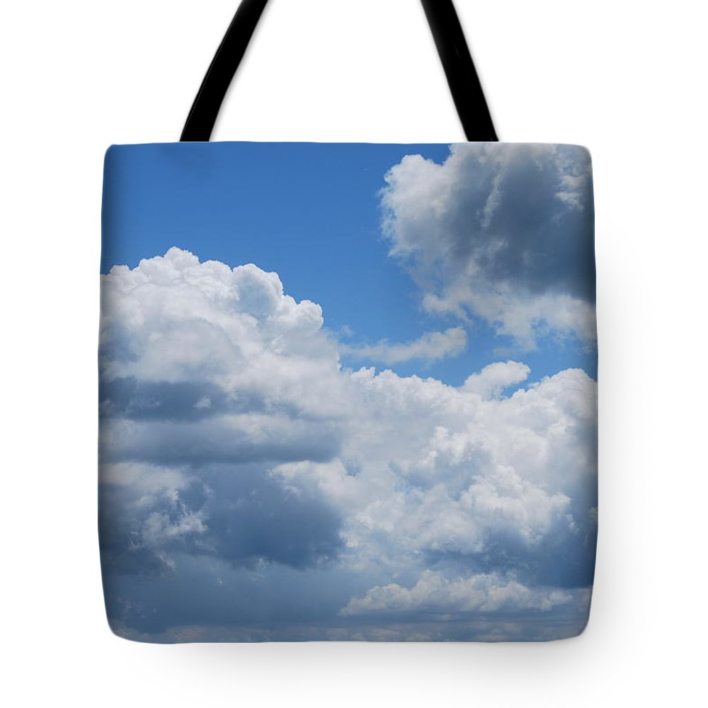 Clouds Tote Bag featuring the photograph Rain Later by Patricia Motley