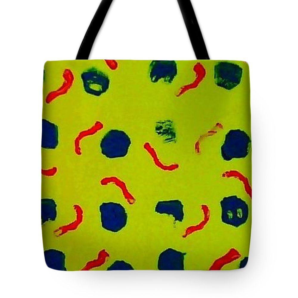 Abstract Tote Bag featuring the painting Rain On A Sunny Day Notecard by Suzanne Berthier