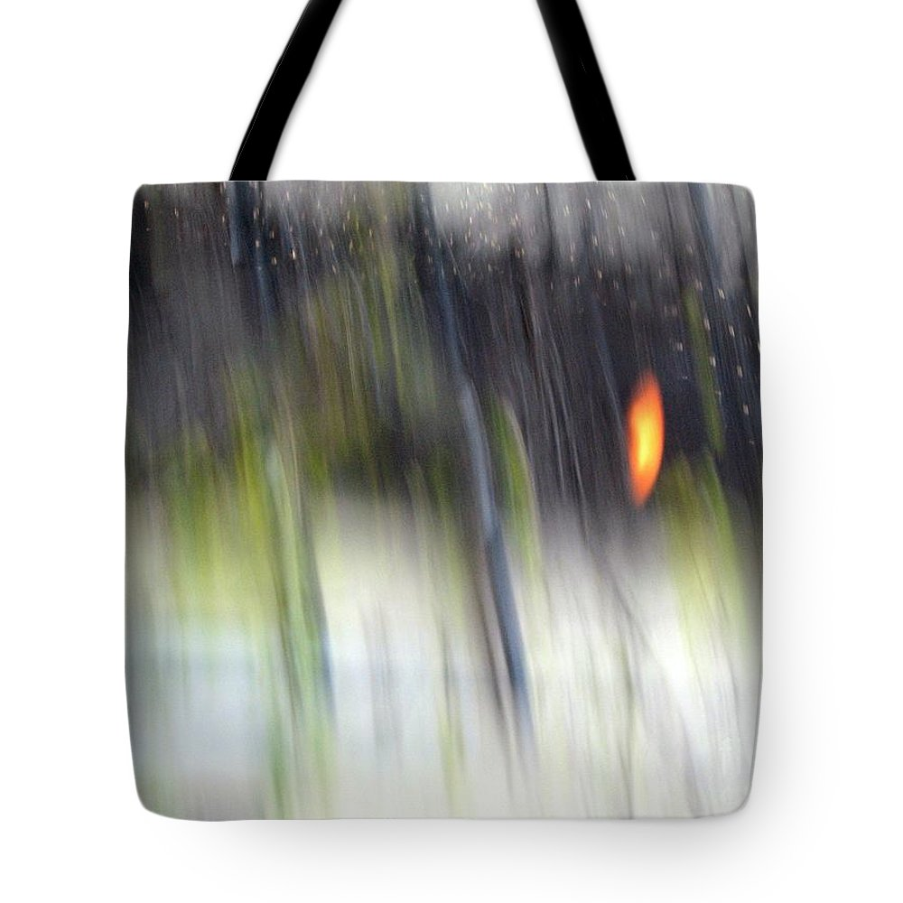 Abstract Tote Bag featuring the photograph Rain Streaked City Scenes by Chris Anderson