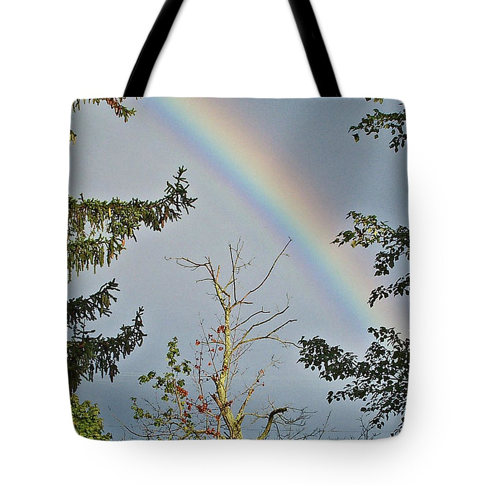 Rainbow Tote Bag featuring the photograph Rainbow 2 by Maria Manna