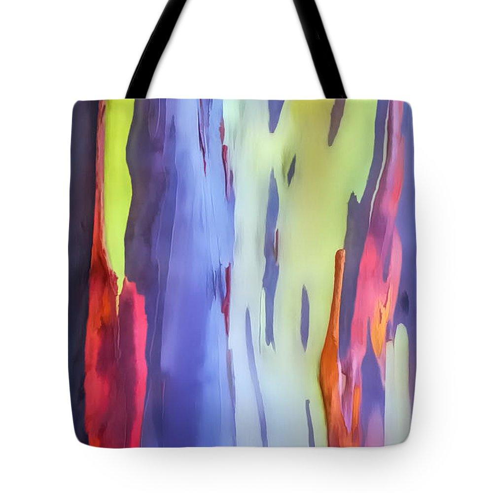 Hawaii Tote Bag featuring the photograph Rainbow Eucalyptus 2 by Dawn Eshelman