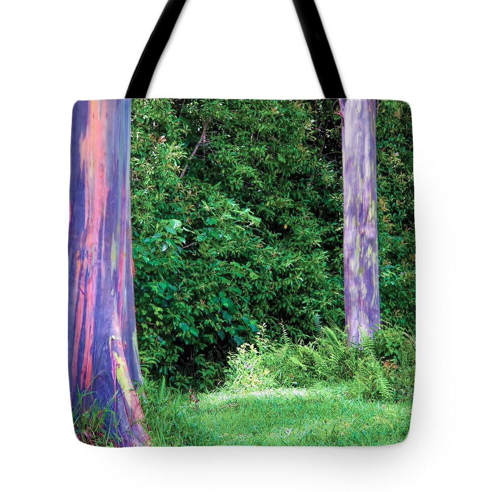 Hawaii Tote Bag featuring the photograph Rainbow Eucalyptus 5 by Dawn Eshelman