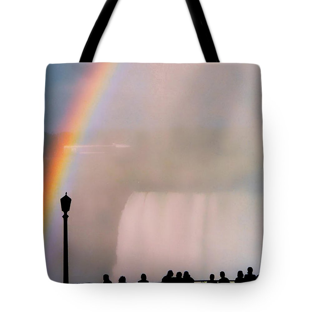Rainbow Tote Bag featuring the photograph Rainbow Falls by Pharris Art