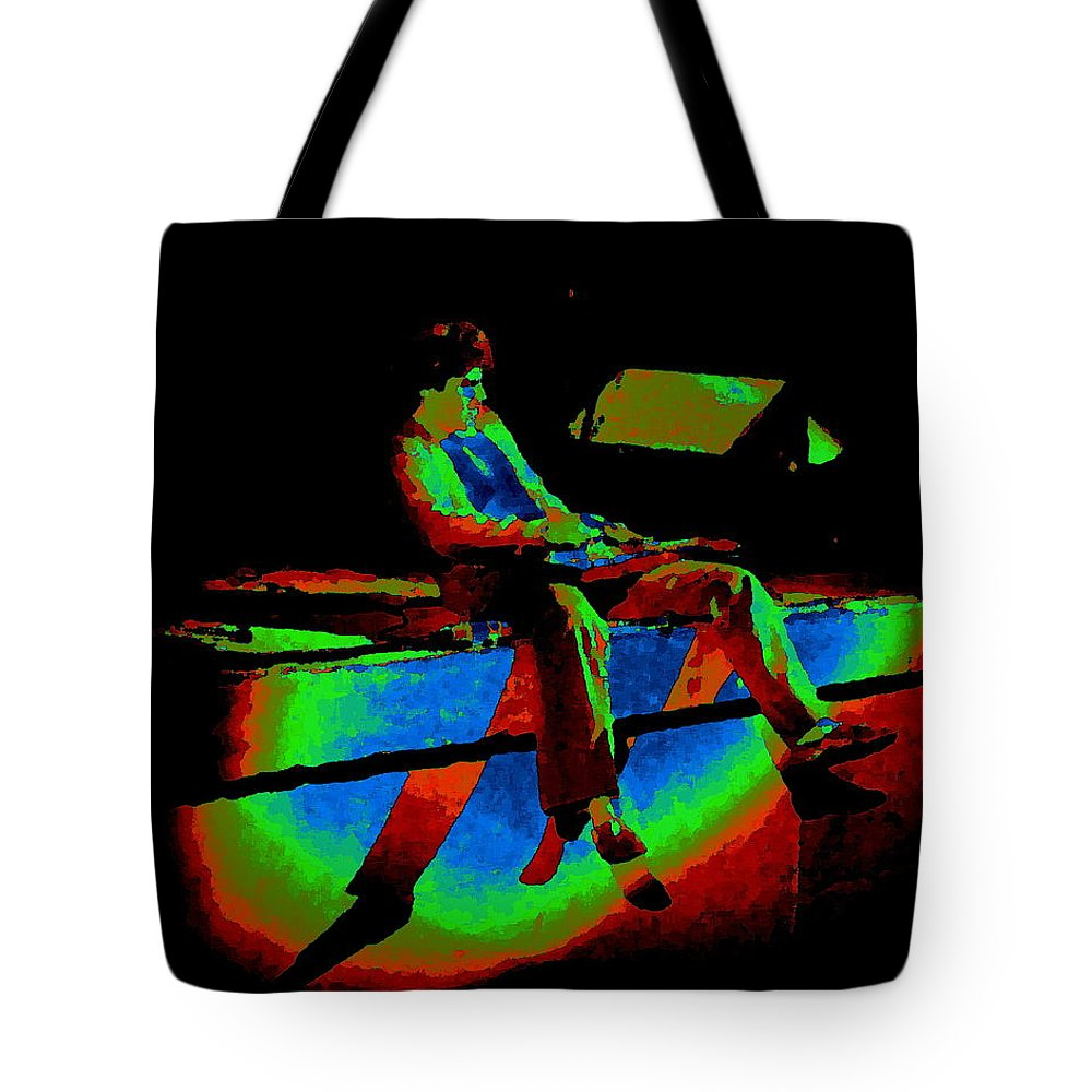 Sammy Hagar Tote Bag featuring the photograph Rainbow Full Of Sound 1977 by Ben Upham