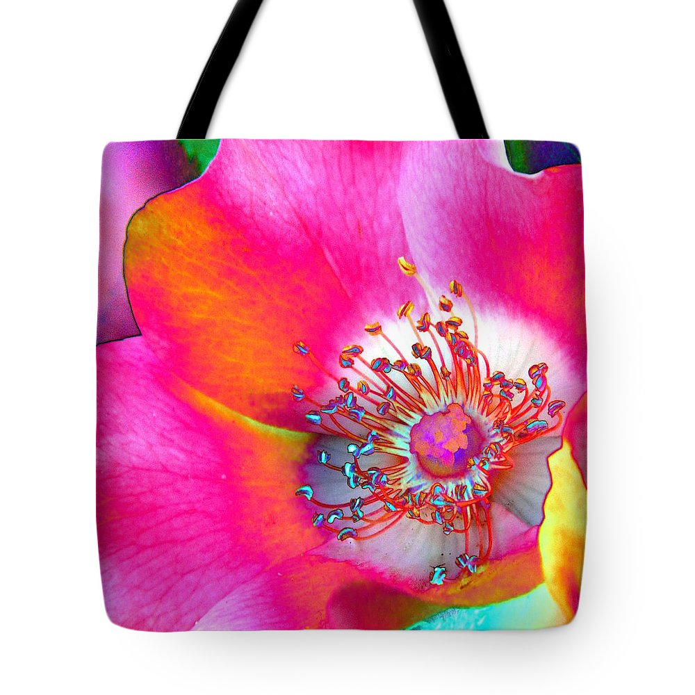 Rose Tote Bag featuring the photograph Rainbow Rose by Nicki Bennett