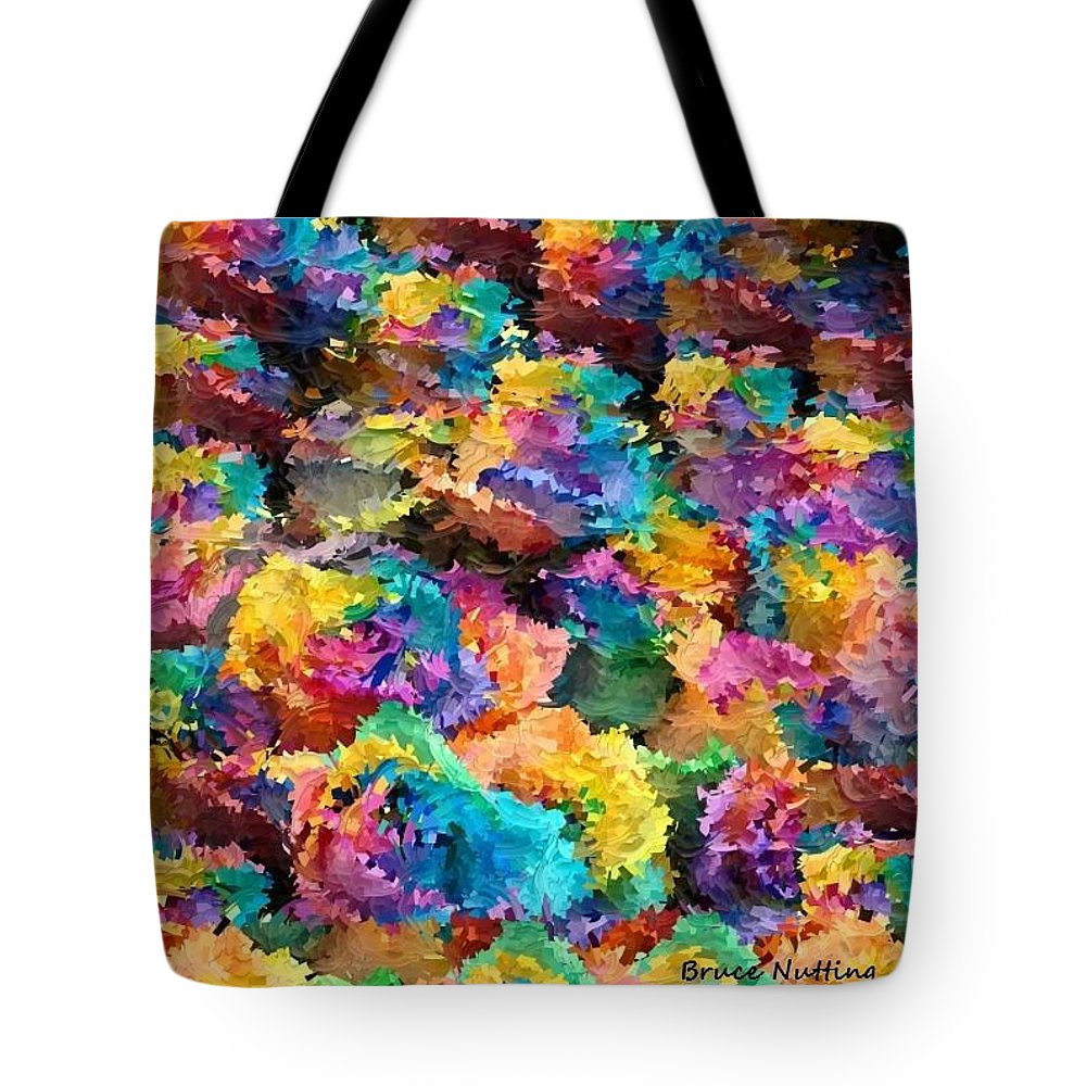 Rainbow Tote Bag featuring the painting Rainbow Roses by Bruce Nutting